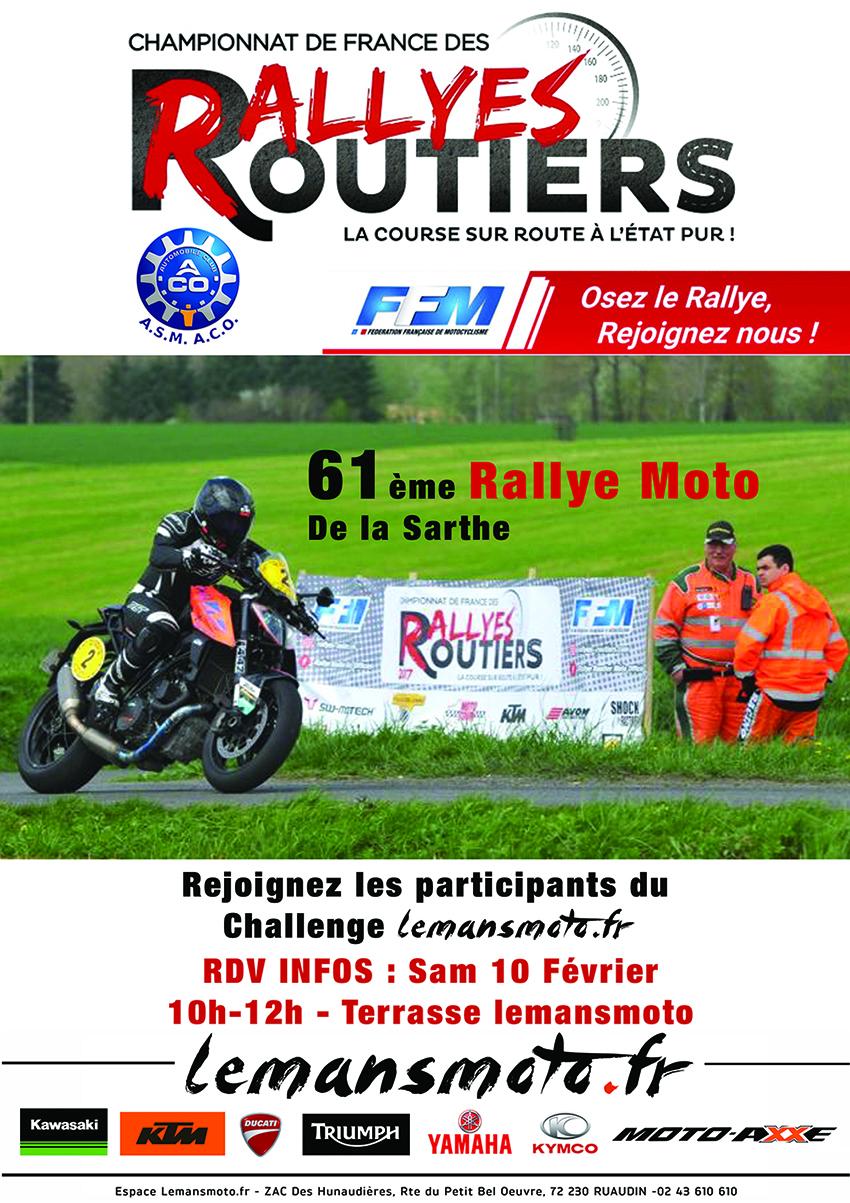 RALLYE DE LA SARTHE 2018 : PARTICIPEZ AU CHALLENGE LEMANSMOTO.FR