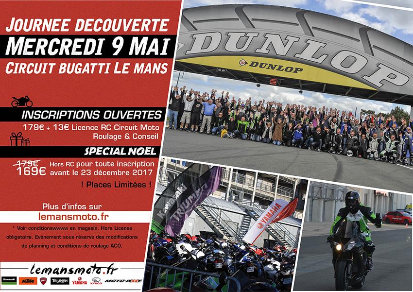 MER 9 MAI 2018 : JOURNEE DECOUVERTE CIRCUIT BUGATTI LE MANS