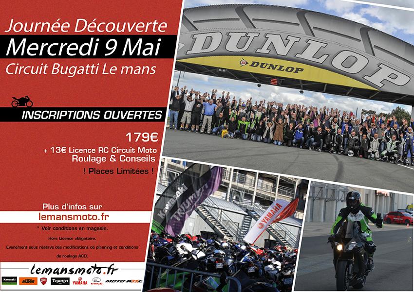 MER 9 MAI 2018 : JOURNÉE DÉCOUVERTE CIRCUIT BUGATTI LE MANS