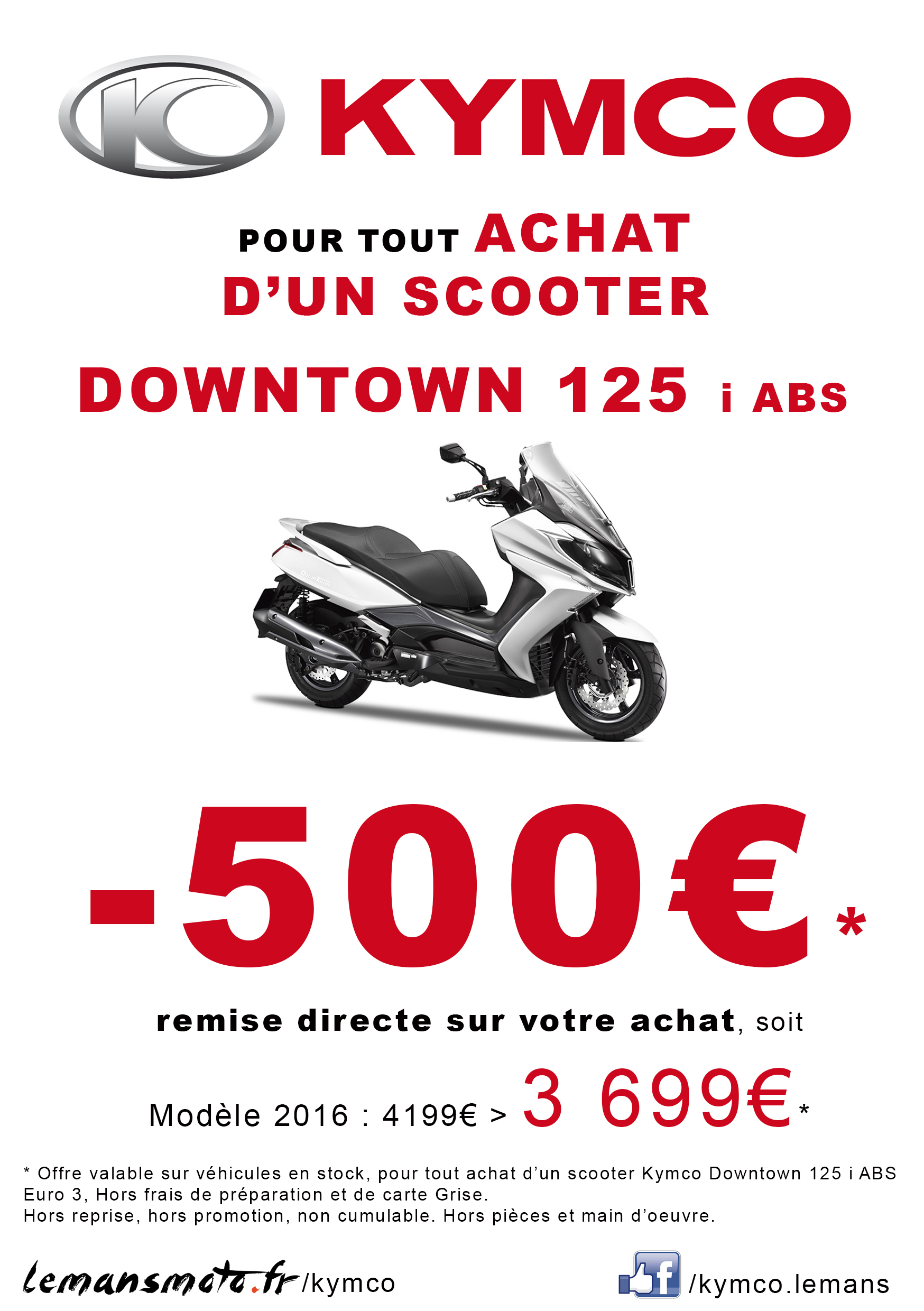 SCOOTER DOWNTOWN 125 i ABS: -500€*