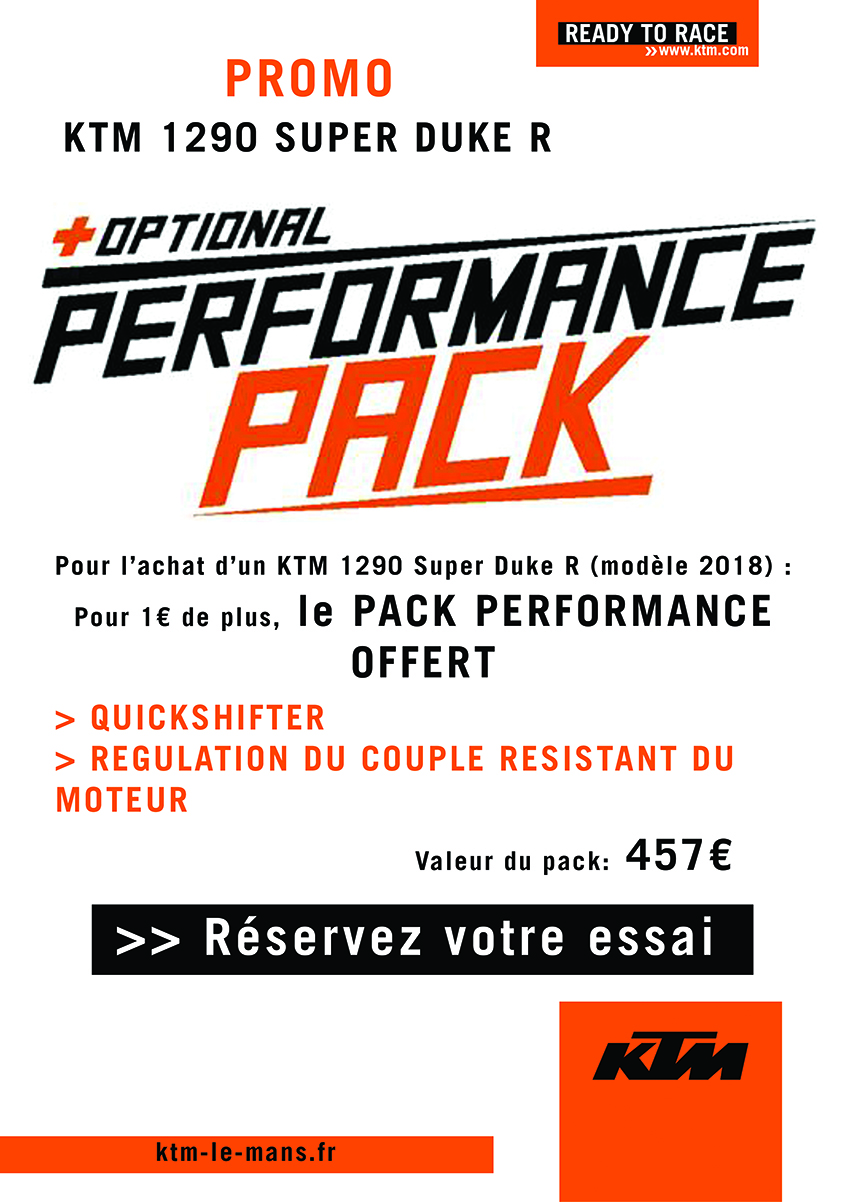 SUPER DUKE R 1290 PACK PERFORMANCE OFFERT*