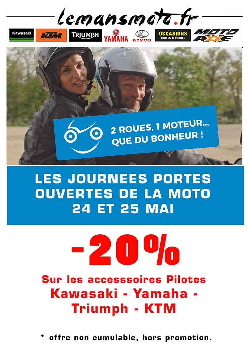 24 et 25 Mai journées portes ouvertes -20% sur les accessoires pilotes de nos marques moto